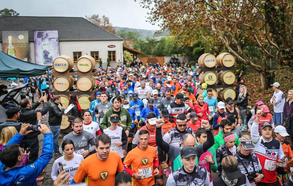 Corredores largam na Vinícola Grand Legado para a Wine Run. Foto de divulgação
