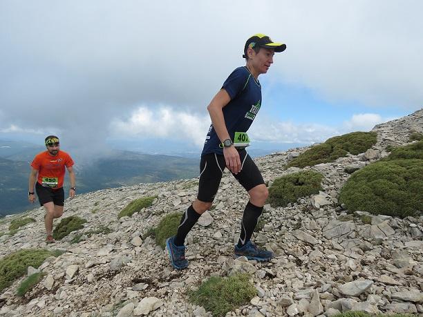 Mika em um dos trechos da Trail Tozal de Guara, em Huesca, na Espanha. Foto de Ramon Ferrer