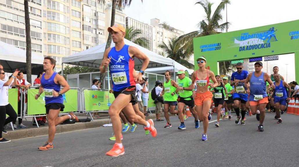 Largada da Meia Maratona Nacional da Advocacia. Foto de divulgação