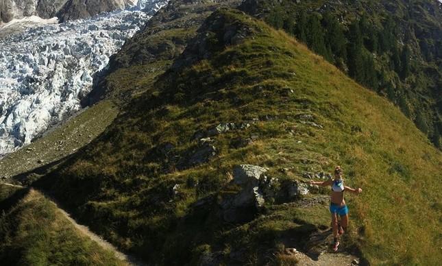 Vera treinando em Chamonix