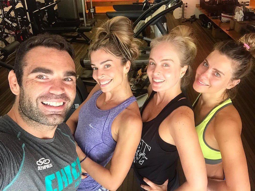 Chico Salgado com Grazi Massafera, Angélica e Carolina Dieckmann