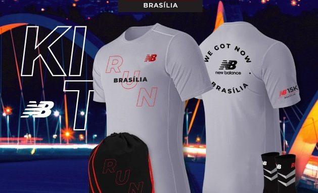 Kit do Circuito 15K, da New Balance, que terá sua primeira corrida em Brasília, no dia 22 de março